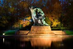 Monument Frédéric Chopin in Warschau Lizenzfreies Stockfoto