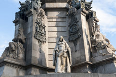 Monument franc de Barcelone Columbus Image stock