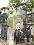 The monument Frederic Chopin in Paris cementary stock photography
