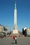 Monument of Freedom. In Riga Stock Image