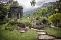 Monument Frei Leandro, Rio de Janeiro Botanical Garden Stock Photos