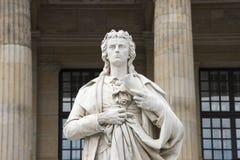 Monument Friedrich Schiller Berlin - Gendarmenmarkt Stock Fotografie