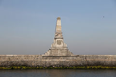 Monument in front of Haydarpasa Train Station in Istanbul City Stock Images