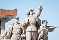 Monument in front of Mausoleum of Mao Zedong Stock Image
