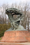 The monument of Fryderyk Chopin Stock Photography