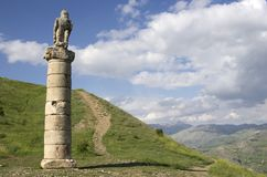 Monument funéraire de Karakush près du mont Nemrut images stock