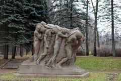 Monument the Funeral of the leader. Sculptor Sergey Merkurov in Leninskiye Gorki. Stock Photo