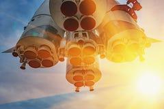 Monument - fusée de Vostok Photographie stock