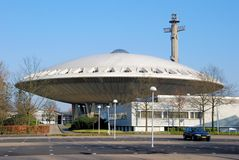 Monument futuriste d'Evoluon à Eindhoven Images libres de droits