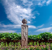 The monument in the garden of the old Palace of the Romanian Que Royalty Free Stock Photos