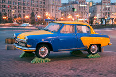 Monument of GAZ-21 in Kiev, Ukraine Royalty Free Stock Images