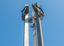Monument in Gdansk Shipyard Stock Image