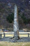 Monument in geheugen van militairen Laerdal, Noorwegen 04 mei, 2013 Stock Afbeelding