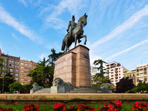 Monument of General Espartero at Logrono Royalty Free Stock Image