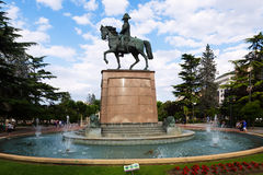 Monument of General Espartero. Logrono Royalty Free Stock Image