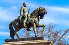Monument of general on horse. Statue in Barcelona of General on his horse Royalty Free Stock Image