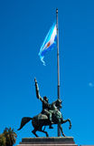 Monument of General Manuel Belgrano. Monument of Manuel Belgrano, creator of the argentinian flag. This statue is in front of Casa Rosada in Buenos Aires stock photos