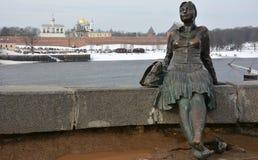 Monument, genoemd Vermoeide vrouwentoerist Royalty-vrije Stock Afbeeldingen