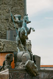 Monument George on Poklonnaya Hill in Victory Park Royalty Free Stock Images