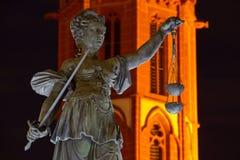 Monument-Gerechtigkeit in Frankfurt Lizenzfreie Stockfotografie