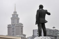 Monument of a german communist Ernst Thalmann in Moscow. Near a metro staition Airport Stock Image