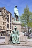 Bismarck monument in Dusseldorf, bronze monument of German Iron Chancellor royalty free stock photos