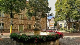 Monument Germany. Germany Monument beautiful market place view stock photo