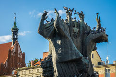"Monument geroepen Pomnik Walki i stwa Ziemi Bydgoskiej van MÄ™czeÅ "" Stock Afbeeldingen"