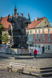 "Monument geroepen Pomnik Walki i stwa Ziemi Bydgoskiej van MÄ™czeÅ "" Royalty-vrije Stock Afbeelding"