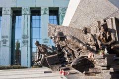 Monument gewijd aan de opstand van Warshau Stock Afbeeldingen