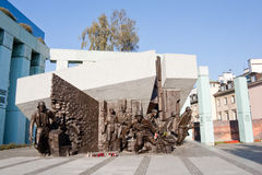 Monument gewijd aan de opstand van Warshau Royalty-vrije Stock Afbeeldingen