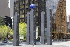 Monument gewijd aan Raoul Wallenberg in Manhattan Royalty-vrije Stock Afbeeldingen
