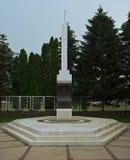 Monument gewijd aan WW2 slachtoffers in Temerin, Servië stock afbeeldingen