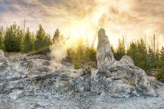 Monument Geyser Basin Spire Stock Image