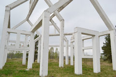 Monument Ghost Village. Royalty Free Stock Photos