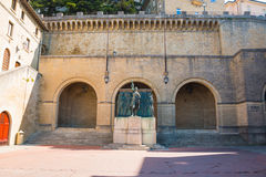 Monument Girolamo Gozi and defenders of freedom 1739-1740 in San Marino Royalty Free Stock Photo