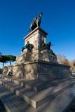 Monument of Giuseppe Garibaldi. At Gianicolo in Rome Royalty Free Stock Photography