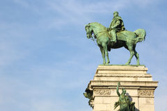 Monument of Giuseppe Garibaldi in Milan, Italy Stock Photography