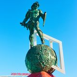 Monument Gladiator in front of Otkrytie Arena Stadium Royalty Free Stock Image