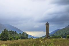 Glenfinnan Monument in Scottish Highlands stock image