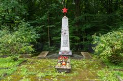 Monument for glory to the heroic soldiers of the Soviet Army who died in the struggle for th Royalty Free Stock Photos