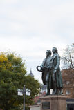 A monument of Goethe and Schiller Stock Image