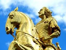 Monument, Golden Rider, Dresden Royalty Free Stock Photo