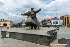 Monument of Gotse Delchev at the central square of town of Strumica, Republic of Macedonia. STRUMICA, MACEDONIA - JUNE 21, 2018: Monument of Gotse Delchev at the royalty free stock photography