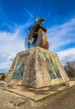 Monument in Gozo Mountain Stock Photography