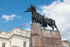 Monument of Grand Duke Gediminas royalty free stock photography