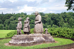 Monument Grandma with children. Royalty Free Stock Photography