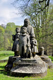 Monument Grandma with children Royalty Free Stock Photography