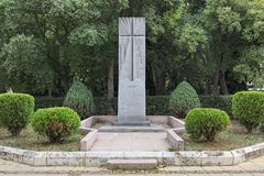 Monument for the Gratitude to the Bulgarian people from the Armenian community of Varna, Bulgaria royalty free stock photos