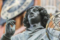 Monument of great astronomer Nicolaus Copernicus, Torun, Poland Royalty Free Stock Photos